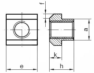 DIN 508 Гайка для Т-образных пазов, пазовый сухарь.