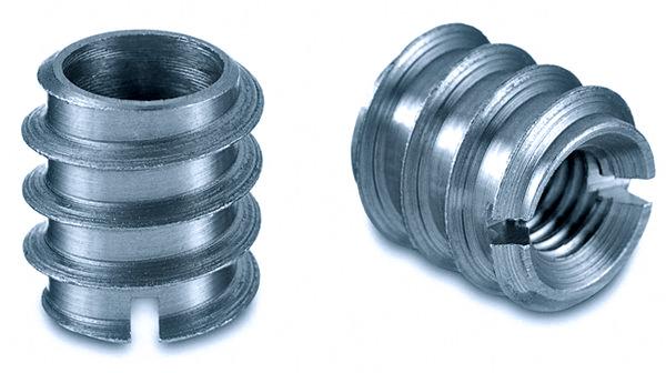 DIN 7965 Муфта мебельная резьбовая стальная со шлицем (резьбовой дюбель)