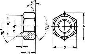 DIN 2510 Гайка для шпилек с утонченным стержнем,