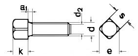 DIN 479  винт установочный с квадратной головкой,