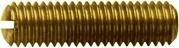 DIN 551- Установочный винт с прямым шлицем и плоским концом