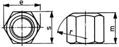 DIN 6330 гайка высокая шестигранная с метрической резьбой.