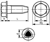 DIN 7500 D Винт Taptite (самонарезающий) , форма D