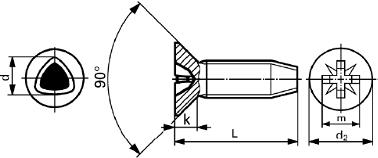 DIN 7500 M Винт резьбовыдавливающий Taptite, форма М