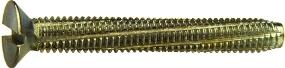 Винт самонарезающий с потайной головкой и прямым шлицем DIN 7513 F