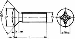 Самонарезающий винт DIN 7516 с крестообразным шлицем PH или со шлицем Torx,