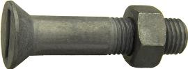 DIN 7969 — винт с неполной резьбой, с потайной головкой с прямым неполным шлицем