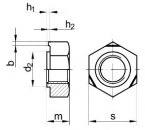Гайка приварная шестигранная DIN 929.