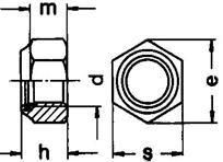 DIN 982 гайка с нейлоновым кольцом (стопорным),