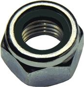 DIN 982 Гайка самоконтрящаяся шестигранная высокая с неметаллическим вкладышем - нейлоновым кольцом.