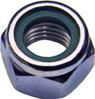 DIN 985 Гайка самоконтрящаяся (самостопорящаяся) низкая с нейлоновым кольцом.