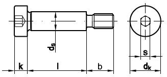 ISO 7379 Винт с утолщенным стержнем для отверстий из-под развертки