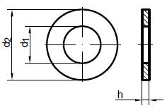 DIN 126 — шайба плоская без фаски.