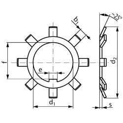 Шайба DIN 5406 - шайба многолапчатая стопорная пружинная.