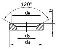 шайба DIN 6319 C+D (G) Шайба сферическая форма С,форма D,