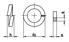 DIN 7980 Шайба пружинная гровер