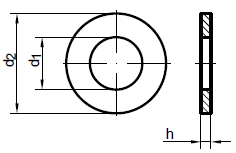 ISO 7089 шайба плоская без фаски, класс точности А